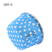 Hot Sale Roll-up hem Cup Cake, Blue Base and white spots design paper cupcake liners