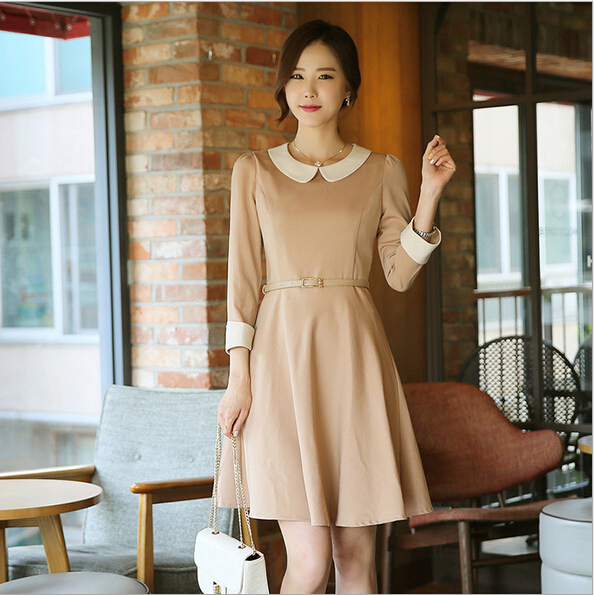 EY0017D 2015 fashion women summer sleeveless formal office dress Ladies work wear