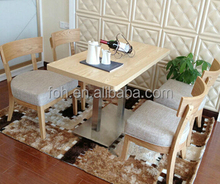 Wooden Cafe Table Chair Set Furniture (FOH-CXSC02)