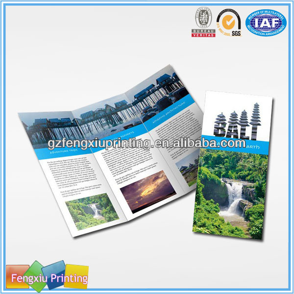 Sample Top-Grade Tri Fold Full Color Promotional Unique Brochure Printing