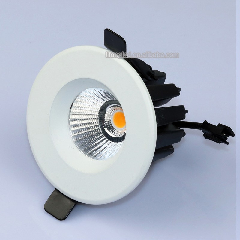 Aluminum Die casting cut out size 70mm ceiling cob spotlight downlights 7w dimmer led lights