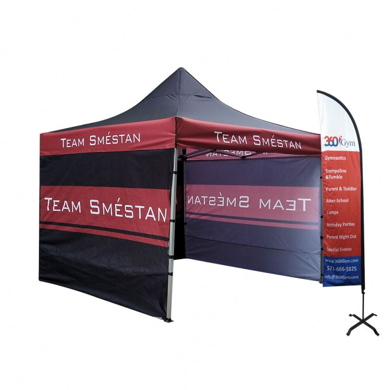 Any 3x3 Custom size 10X20 ft black folding tent