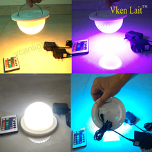 Cordless Led hanging light base color change