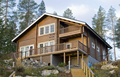 Prefab wooden log homes LOG-001