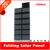 120W top foldable solar power crocodile clips battery charger for AC/car/boat