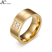 Wholesale IP Gold CNC CZ Jewelry Machine Stainless Steel Wedding Ring