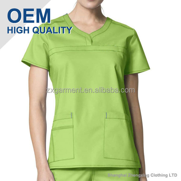 100%Cotton or 65%Polyester 35%Cotton Scrub Manufacturers