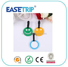 Smily face Silicone Soft PVC Travel Suitcase name Luggage Tag