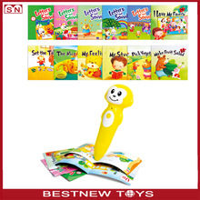 Wholesale learning toys noisy educational books english reading pen for kids children