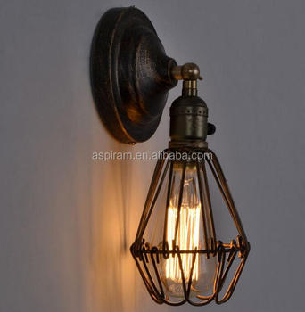 industrial loft iron wall sconce lamp/metal wall lights