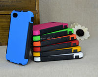 hybrid tpu + clear pc flip hard case for iphone 4g 4s with touch screen