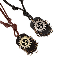 Western Designs Hottest Man latest fashion necklace Punk Western style Leather necklace