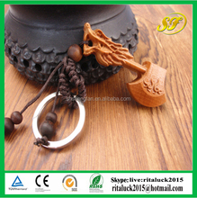 Hot sale souvenir wooden key chain for gift