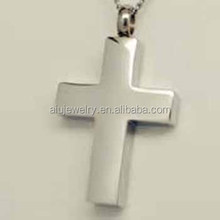 316L stainless steel pet cremation cross pendant jewelry