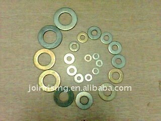 china Low carbon steel Flat washers yellow zinc plated