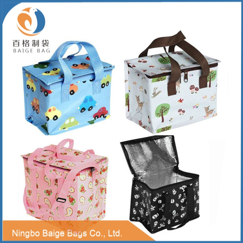multi-compartment recycled laminated non woven polypropylene insulated thermal lunch bag
