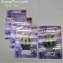 Sex Pills Packing 3D Plastic Lenticular cards of RHINO 69 - 3D & Laser Silver Effect