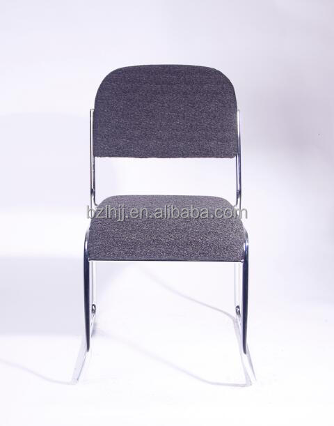 fabric stacking office chairs with metal frame 1045b