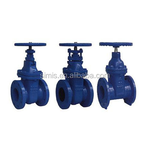 F4 Flanged Non rising stem Resilient seated gate valve
