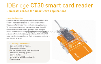 Gemalto IDBridge Smart Chip Card Reader