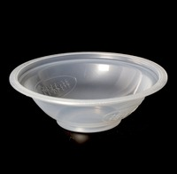 630ml white PP material bowl shape transparent plastic container for sealing film