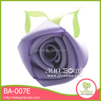 2015 Beautiful Single color rose flower hair bow clip for hair decoration