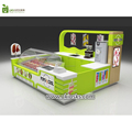 Unique supply 4X3 lovely bubble tea kiosk with frozen yogurt kiosk for shopping mall