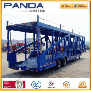 PANDA 2 axles car carrier semi trailer/ car roof racks luggage carrier for loading 4 cars 6cars 8cars