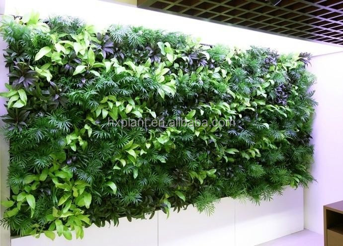 Gros artificielle jardin vertical vert plantes haie de for Plante artificielle jardin