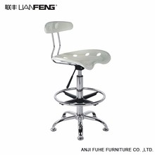LIANFENG Commercial Contract TOPHINE Modern Furniture Aluminium Metal Frame Teak Wood Kitchen High Bar Chair
