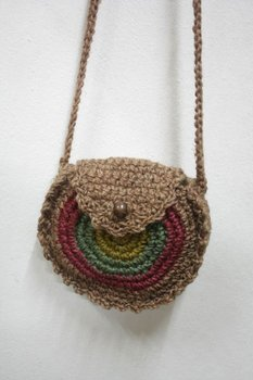 Hessian Round Hippie HOBO Sling Crossbody Shoulder Bag Purse