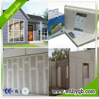 Sound insulation 60dB CE approved 90mm thickness eps cement sandwich cheap fence panels