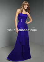 LL010 Long Strapless Bridesmaid Dress 2013