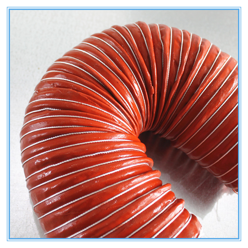 Ventilation system fire resistant flexible duct high temperature pvc flexible duct