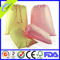 small non woven drawstring pouch bag with custom logo