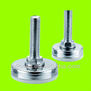 Plastic+iron / White/Black/Silver / office desk adjustable screw feet / leg mat glide (AF3111)