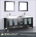 Bathroom makeup vanities free standing double sink
