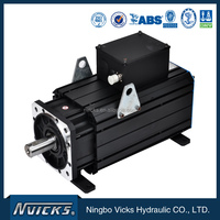 Energy saving servo system electric motor with hydraulic pump