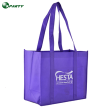 Blank reusable non woven purple shopping bags