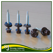Colored painted head long roofing screws with EPDM washer
