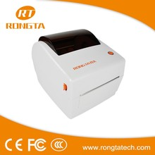 High printing speed mini white 4inch barcode printer USB interface direct thermal barcode sticker machine