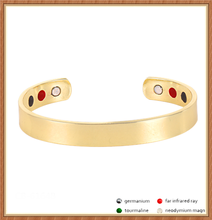 Guangzhou Sland jewelry online wholesale far infrared negative ion bracelet customized copper health bangle cuff