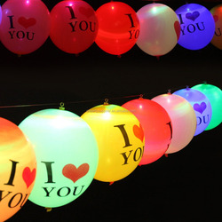 Custom Logo Printed Led Light Up Balloons
