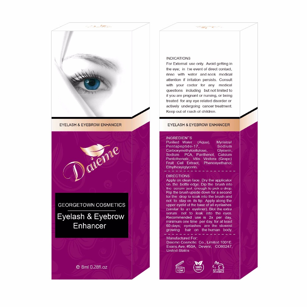 Eyelash & Eyebrow Growth Serum (High Potency) Grows Longer, Fuller, Thicker Lashes & Brows in 60 days! Enhancing-585360