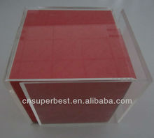 clear acrylic box picture/photo frame cube