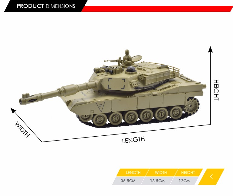 china market 9 channel 1:28 scale rc shooting model tank with light and sound