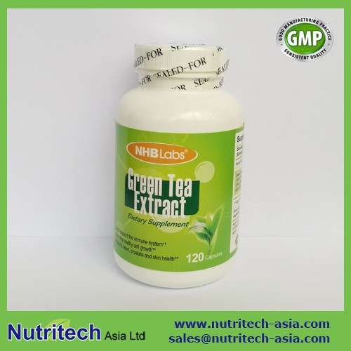 GMP Certified Green Tea Extract Capsules private label(Catechin Capsule, Tea Polyphenol Capsule)