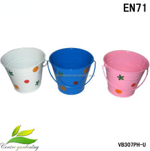 Color metal pails and buckets for kids toy