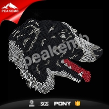 Border Collie Dog Rhinestone Transfers Hot Fix Motif For Apparel