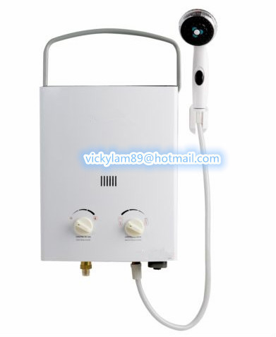 JSD12-6J 6L outdoor portable shower camping gas water heater